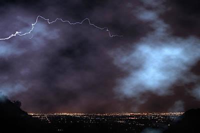 Photograph - City Lights Night Strike by James BO Insogna