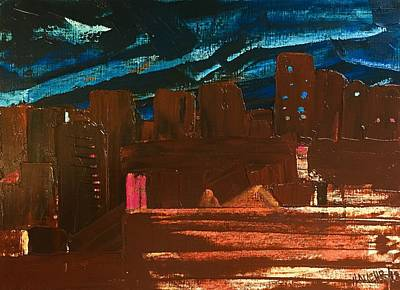Painting - City Lights by Norma Duch