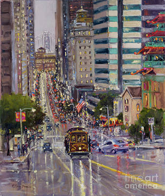 Painting - City Lights, San Francisco by Kristen Olson Stone