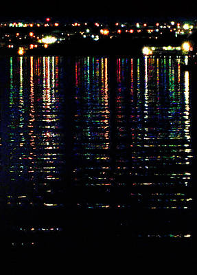 Keith Richards - City Lights Upon the Water 2 by Mark Sellers