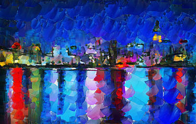 Tokyo Skyline Painting - City Limits Tokyo by Sir Josef - Social Critic -  Maha Art