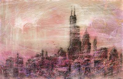 Sears Tower Drawing - City Love by Rachel Christine Nowicki