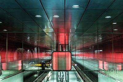City Metro Station Hamburg Art Print