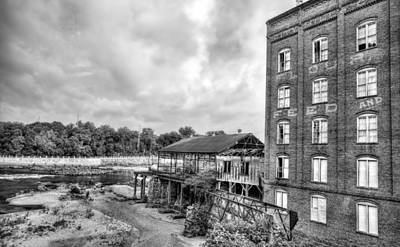 Photograph - City Mills Black And White by JC Findley