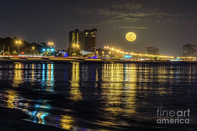 Photograph - City Moon by Brian Wright