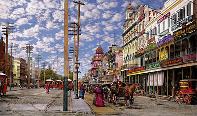 City - New Orleans - New Orleans The Victorian Era 1887 Art Print by Mike Savad