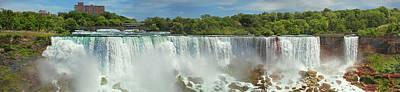 Photograph - City - Niagara Ny - The American Falls At Niagara by Mike Savad