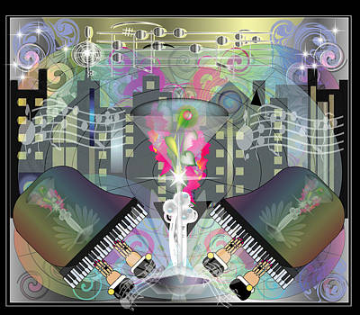 City Night Life Art Print by George Pasini