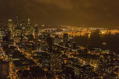 Photograph - City Night by Robert Potts