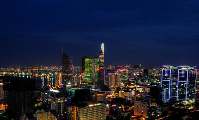 Photograph - City Night by Tran Minh Quan