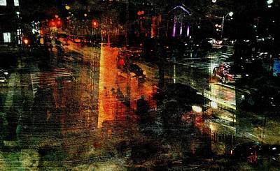 Photograph - City Nightlife by Jim Vance