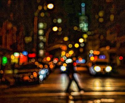 City Nights, City Lights Art Print by Jeffrey Friedkin