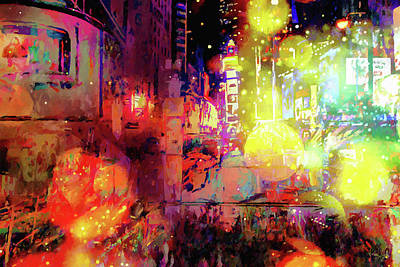 Digital Art - City Nights by Matt Lindley