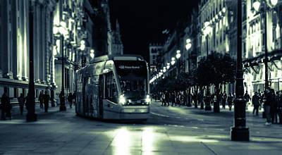 Photograph - City Nights - Monochrome  by Andrea Mazzocchetti