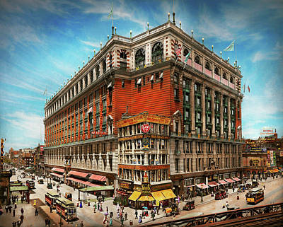Photograph - City - Ny New York - The Nation's Largest Dept Store 1908 by Mike Savad