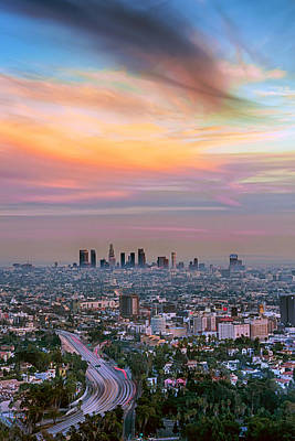 Sunset Photograph - City Of Angels by Aron Kearney