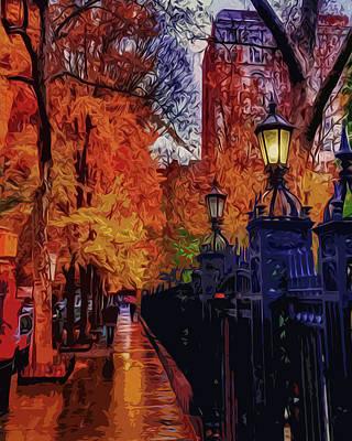 Painting - City Of Autumn by Andrea Mazzocchetti
