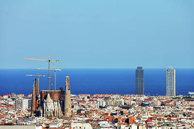 Photograph - City Of Barcelona Cityscape by Artur Bogacki