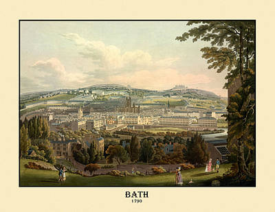 Photograph - City Of Bath 1790 by Andrew Fare