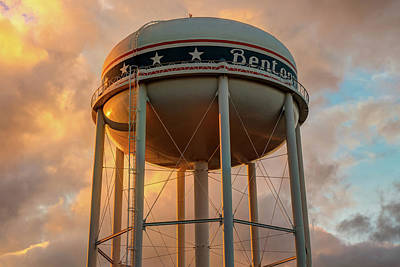 Photograph - City Of Bentonville Arkansas Usa Water Tower by Gregory Ballos
