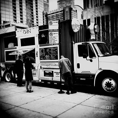 Frank J Casella Royalty-Free and Rights-Managed Images - City of Chicago Pizza Truck  by Frank J Casella