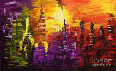 Painting - City Of Color by Tim Gilliland