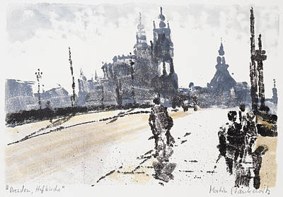 Painting - City Of Dresden, Urban Landscape by Martin Stankewitz