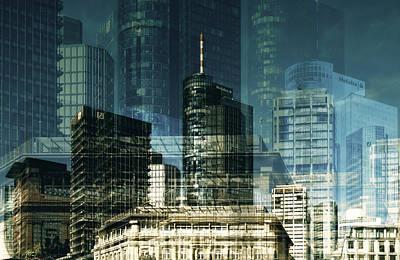 city of Frankfurt Art Print by Claudia Moeckel