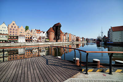 Photograph - City Of Gdansk Old Town Skyline by Artur Bogacki
