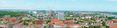 Photograph - City Of Gdansk Panorama. by Marek Poplawski