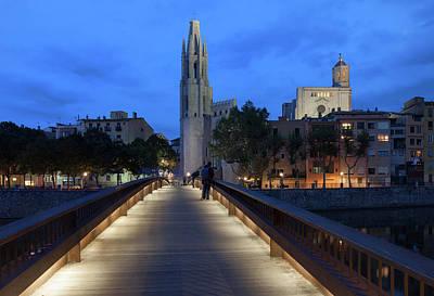 Girona Photograph - City Of Girona By Night In Spain by Artur Bogacki