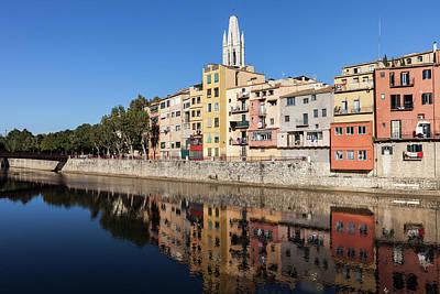 Photograph - City Of Girona Old Town Houses At Onyar River by Artur Bogacki