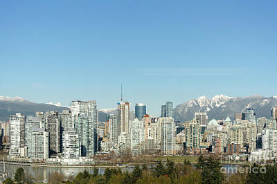 Photograph - City Of Glass Vancouver Skyline by John  Mitchell