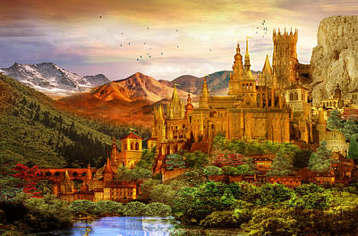 City Of Gold Art Print by Mary Hood
