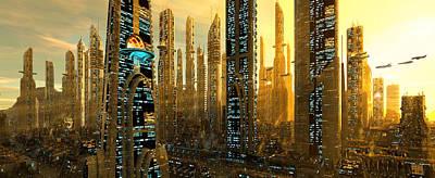 Digital Art - City Of Gold by Patrick Turner