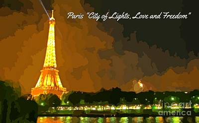 City Of Lights Original by John Malone