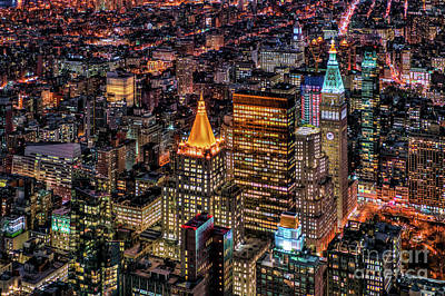 Photograph - City Of Lights - Nyc by Rafael Quirindongo