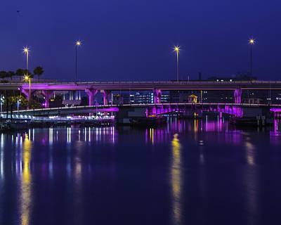 Photograph - Pink Bridge Of Tampa by Paula Porterfield-Izzo