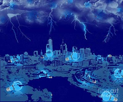 Digital Art - City Of Lights by Serena Ballard