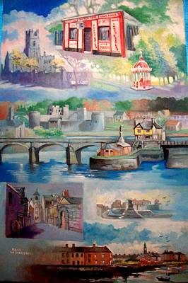 Painting - City Of Limerick Ireland by Paul Weerasekera