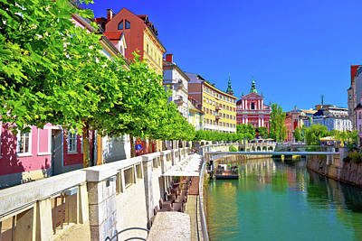 Photograph - City Of Ljubljana Historic Riverfont View by Brch Photography