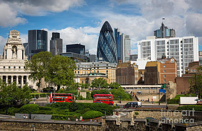 Bus Photograph - City Of London by Inge Johnsson