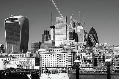 London Skyline Royalty-Free and Rights-Managed Images - City Of London Skyline by Aidan Moran