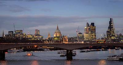 Photograph - City Of London Skyline At Sunset by Alexandre Rotenberg