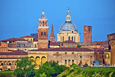 Photograph - City Of Mantova Skyline View by Brch Photography