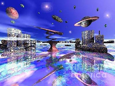 Digital Art - City Of New Horizions by Jacqueline Lloyd