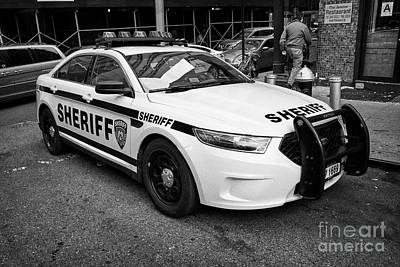 city of new york sheriff department ford police interceptor cruiser vehicle New York City USA Art Print by Joe Fox