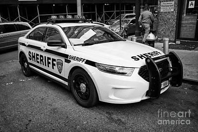 Police Cruiser Photograph - city of new york sheriff department ford police interceptor cruiser vehicle New York City USA by Joe Fox
