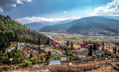Photograph - City Of Paro by Pravine Chester