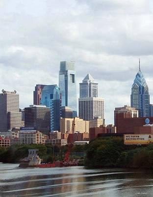 City Of Philadelphia Art Print by Linda Sannuti